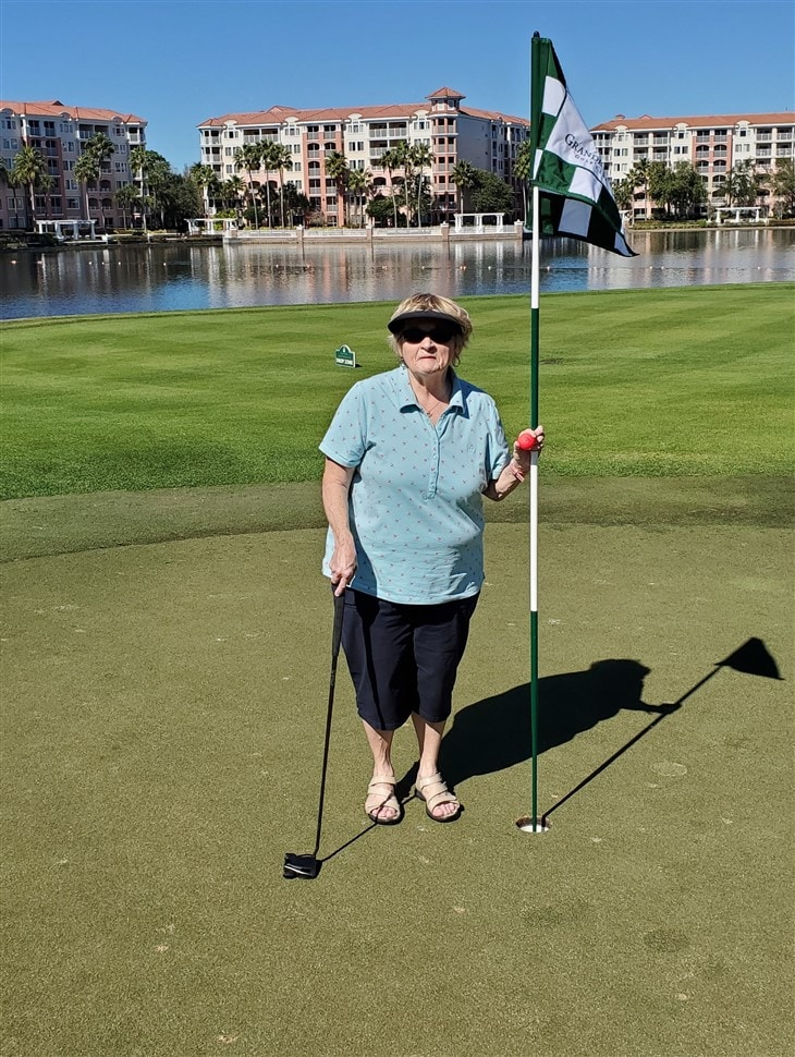 72-year-old Great Grandma Cards 1st Ace